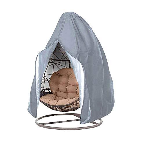 Funda de sillón colgante para silla de jardín Oxford 210D, lona de silla de huevos, impermeable, antirayos UV/viento, manta de protección para silla de patio exterior (115 x 190 cm), color gris