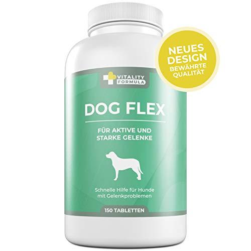 Flex Nahrungsergänzungsmittel Gelenke für Hunde, Grünlippmuschelpulver Hund, Schutz bei Arthrose, Glucosamin, Chondroitin, MSM, Teufelskralle hochdosiert - 150 Tabletten bei Gelenk-problemen