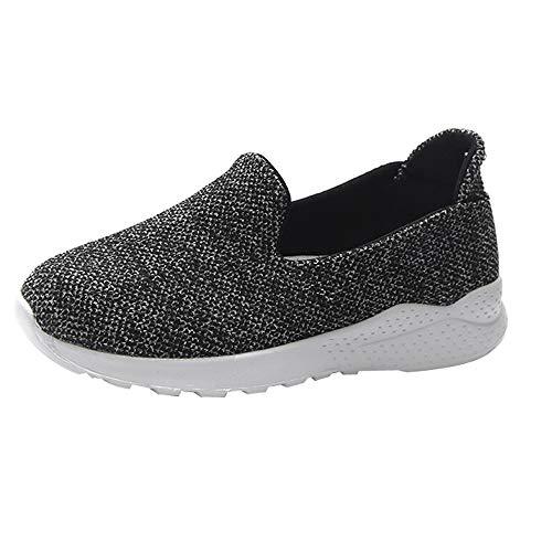 Zapatillas de Exterior para Mujer Otoño Invierno 2018 Moda Casual Zapatos cuña Plataforma Dama PAOLIAN Cómodo Calzado Náuticos Lona Gris Señora Zapatillas Aire Libre Talla Grande