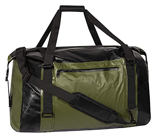 COR Surf 60L Travel Duffle Dry Bag, Foldable Weekend Duffel Bag for Men Women, 100% Waterproof & Tear Resistant, Compression Straps Keep Your Lightweight Gear Dry - Green (24 x 2.1 x 14.2 inches)