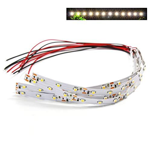 Evemodel NEU 5 STK. LED Hausbeleuchtung warmweiss mit Kabel 20cm 12-18 V DD08WM-5N-EU