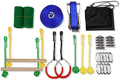 XYL Ninja Toys Outdoors Warrior Kids Warrior Obstáculo para niños Warrior Line Obstáculo Kit de Carrera Slackline Hanging Obstáculo Equipo de Entrenamiento-7 Set