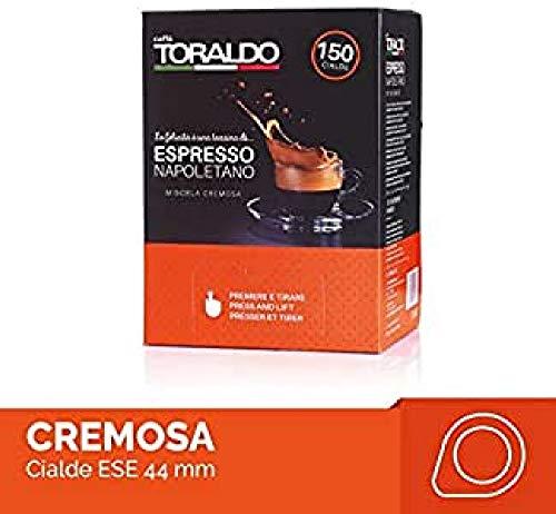 Caffè Toraldo Scatola Cialde Miscela Cremosa da Napoletano Caffè Espresso - 150 Pezzi