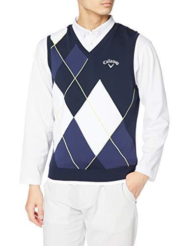 [キャロウェイ] [メンズ] セーターベスト (アーガイル・撥水セーター) / 241-1119502 / ゴルフ 120_ネイビー L