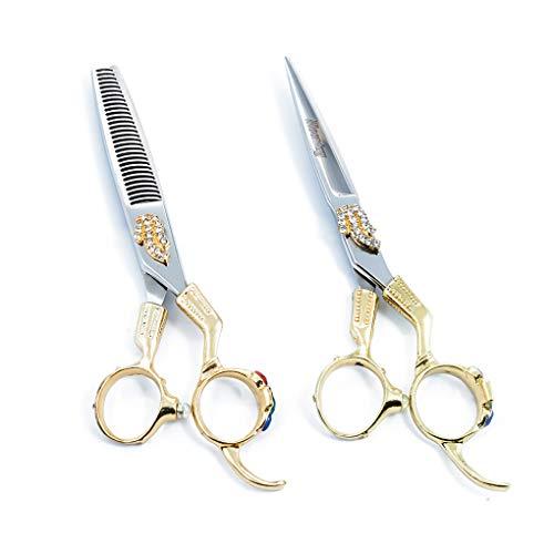 RENYAYA Haarscheren, Friseur Schere Friseursalon Friseure Schere (goldene) Professionelle Scharf Schere Haar-Ausschnitt-Set für Kinder, Frauen und Männer