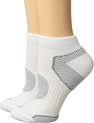 Columbia 2-Pack Low Cut Walking Socks 9-11 (US Womens), White Pair, 4-10