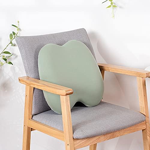 MRBJC Almohadas nórdico simple cojín decorativo cuadrado almohada de espuma viscoelástica para sofá, cama, oficina, verde 40 x 40 x 11 cm