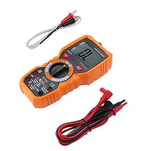 Tester-Datenlogger Digitales Handspannungs-Temperaturwiderstandsthermoelement-Multimeter-Thermometer Tragbar für Elektriker mit Messwiderstand