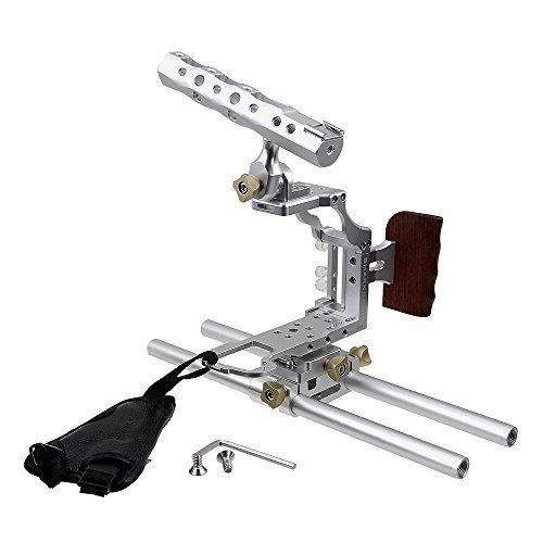 Fotodiox Pro Cinema Silver Sharkcage for Panasonic GH4 Cameras (Panasonic Lumix DMC-GH4) - Skeleton Housing, Protective Video Cage