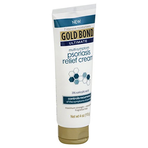 Gold Bond Ultimate Psoriasis Relief Cream 4 Ounce Contains Salicylic Acid to Help Control Reoccurrences of Psoriasis Symptoms Helps Irritated Itching Scaling Skin Feel Soothed and Comfortable