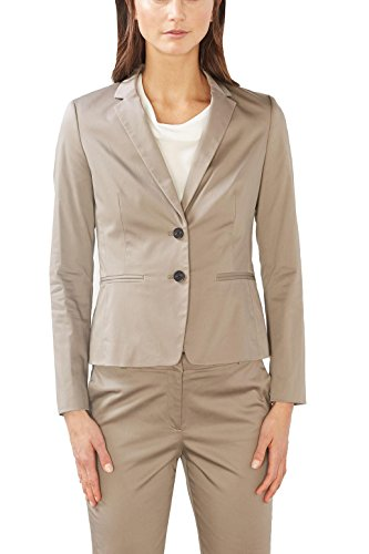 ESPRIT Collection Damen 997EO1G801 Blazer, Braun (Taupe 240), 40