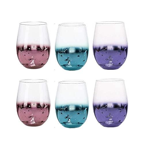 GONGFF Copa de Vino, Copas de Vino, Amplificador Moderno;Elegante Juego de Vasos Cuadrados, Copa de Vino para Cualquier ocasión, Cristal Transparente de Primera Calidad sin Plomo, Sier