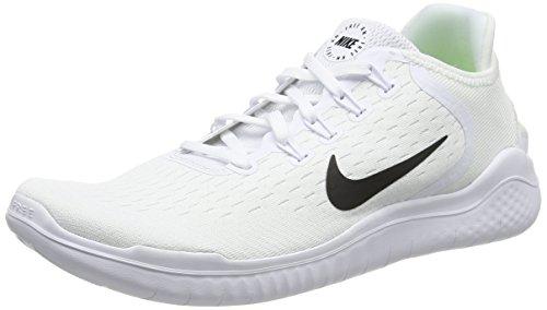 Nike Mens Free Rn 2018 White/Black 942836 100 - Size 10.5