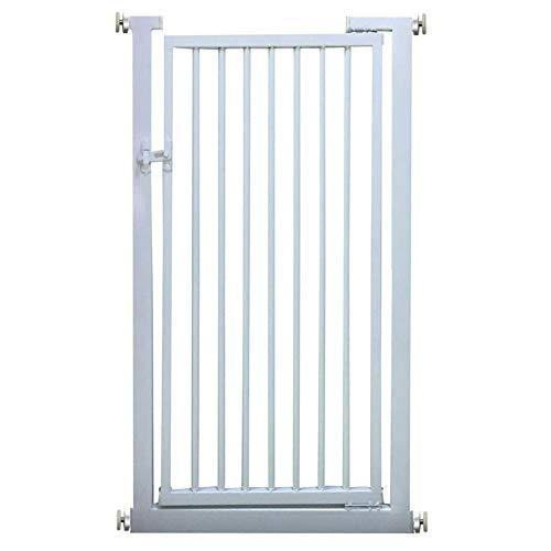 Kratka na schody, bardzo wysokie dopasowanie, bramka zabezpieczająca przed zwierzętami domowymi, pasuje do 81-90 cm szerokości, 80 cm / 90 cm / 100 cm / 110 cm / 120 cm / 130 cm, bardzo wysoka, biała bramka dla dzieci