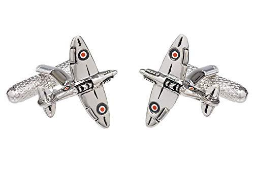 Boutons Manchette Forme Avion Spitfire