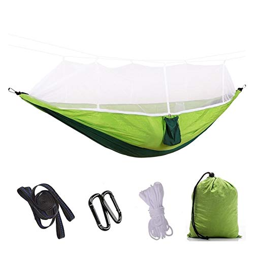 Nanna Camping Hammock with Mosquito Net Outdoor Travel Hammock for Hiking Camping Portable Camping Hammock (Color : Green)