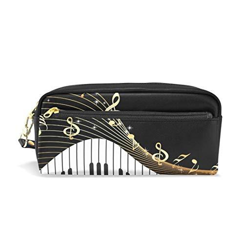 shenguang Federmäppchen, große Kapazität Bleistiftbeutel Beutelhalter Briefpapier Schreibtisch Veranstalter Bürobedarf Musiknote Instrument Klavier Klavier Vintage