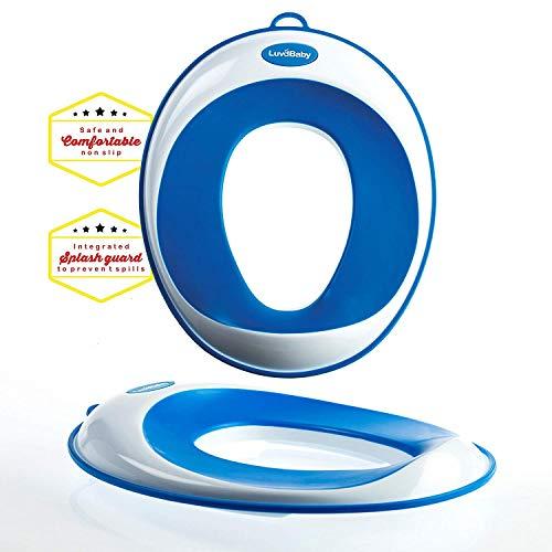 Toiletten-Training-Sitz - Kinder-Toiletten-Training-Klobrille für Jungen und Mädchen - sichere rutschfeste Oberfläche - UMSONST mitgeliefert: Haken mit Saugnapf zur Aufbewahrung…