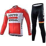 PGone Racing Classic Bicycle Sportswear Lotto Pro - Bicicleta de Carretera al Aire Libre Anti-UV MTB MTB Trajes de Ciclismo-Ciclismo Jerseys para Mujeres de Manga Larga (Size : X-Large)