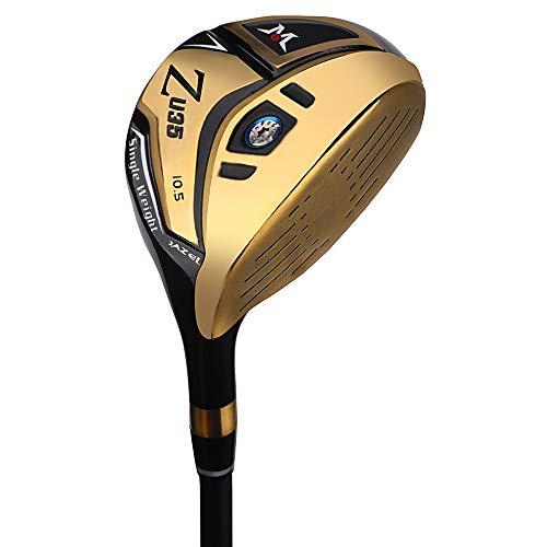 Mazel Club de golf driver en titane pour homme droitier, 460 CC, Doré 10,5 degrés Flex rigide.