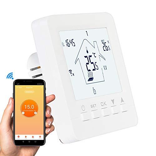Sunbaby Tuya - Termostato inteligente con WiFi, 3 A, aplicación de voz, termorreguladora eléctrica de agua, gas, caldera, calefacción por suelo, funciona con Alexa Google Home