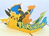 BC Worldwide Ltd handgemachte 3D-Pop-up-Karte Pokémon Taschenmonster Geburtstag Kind Kind Party Einladung Jubiläum Muttertag Vatertag Valentinstag - 2