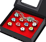 AKATSUKI 11 PCS Anime Rings Akatsuki Rings Costume Cosplay Prop Akatsuki Rings Set Cosplay Accessories With Necklace Headband Anime Itachi Ring