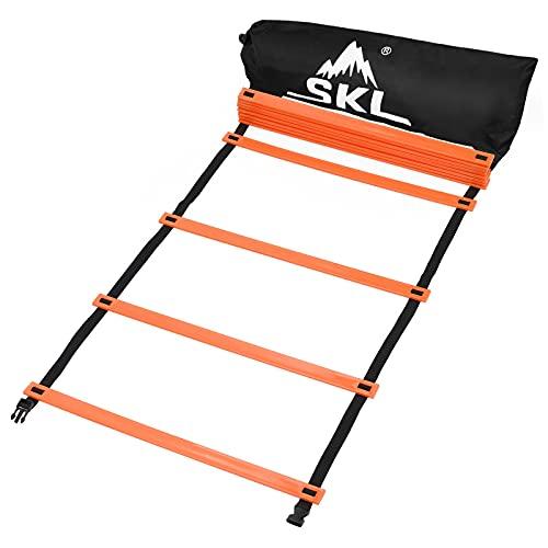 SKL Agility Ladder, Speed Ladders Training Ladders 6M 12 Adjustable Rungs...