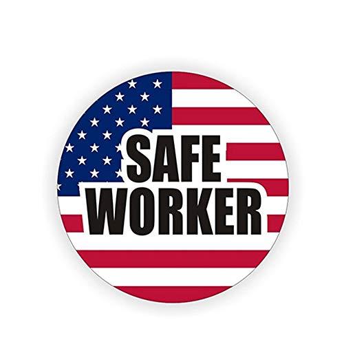 12 cm x 12 cm Safe Worker Patriotische amerikanische Flagge Schutzhelm Aufkleber Helm Aufkleber Etikett USA Auto Styling Aufkleber