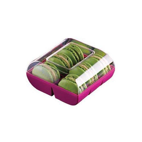 Silikomart professional - Boîte couleur 6 macarons 90 boîtes fushia. Cuisine : Autour De La Pâtisserie (le Macaron Du Chef)