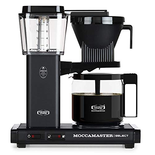 Moccamaster Filter Kaffeemaschine KBG Select, 1.25 Liter, 1520 W, Matt Black