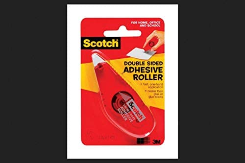 Scotch Double Sided Adhesive Roller 27 Inches x 26 Feet 6061 Pack of 4 Clear product image