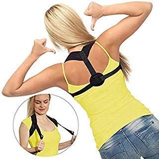 Greenoak Body Posture Corrector for Women & Men, Relieves Upper Back, Neck & Shoulder Pain, Correct Slouching Hunching Improve Bad Posture, Clavicle Support, Help to sit up straight, one size fit most