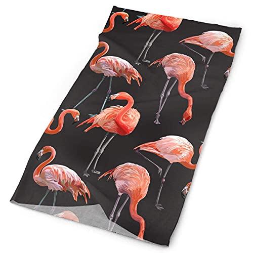 Pink Flamingo Scarf Head Wrap Novedosos Headwear Bandanas Versátil Headband Cap Toallas para el polvo para deportes al aire libre Bufanda mágica informal para pescar