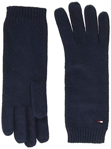 Tommy Hilfiger Damen FLAG KNIT GLOVES Handschuhe, Blau (Blue Cjm), One Size (Herstellergröße:OS)