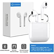 Bluetooth Headphones, LICHEERS Mini Wireless Sports Earphone/Stereo-Ear Sweatproof Earphones with Noise Cancelling and Charging Case Fit for Samsung Galaxy S8, S8 Plus iPhone X/8/7/6/6s plus