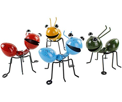 YiYa Hormiga de metal un grupo de 4 insectos lindos