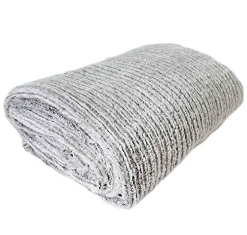 Nielsen Wohndecke Mian, 150x200 cm, Grau (Silbergrau), flauschig weiche warme Kuscheldecke, gemütliche Decke, Couchdecke, Sofadecke, Schlafdecke, Tagesdecke