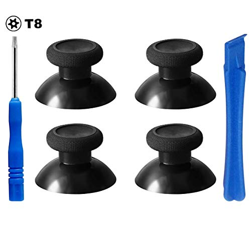 E-MODS GAMING 4X Replacement Black Analogue Thumbsticks for Xbox One/ PS4 Controllers