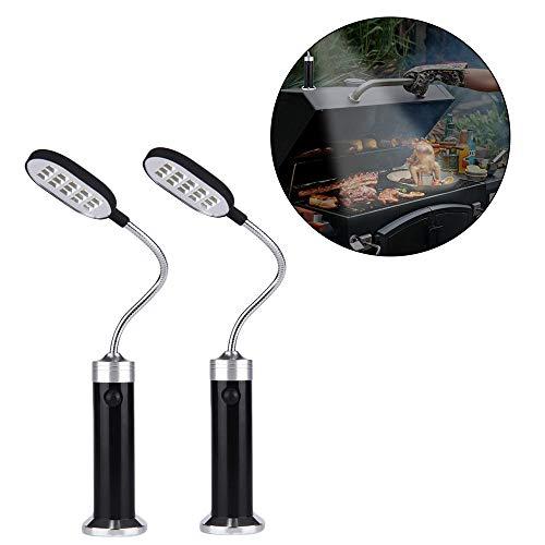 Lot De 2 Lumières De Barbecue, 15 LED Magnétiques à 360 Degrés Réglables à La Lumière De Barbecue,Lumières Extérieures Résistantes Aux Intempéries, Accessoires De Barbecue, Ensemble D'outils