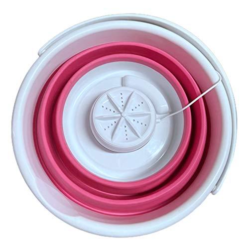 Máquina de lavado plegable Mini lavadora Turbo ultrasónico Mini calcetines y bragas de limpieza Artefact Rojo 5L