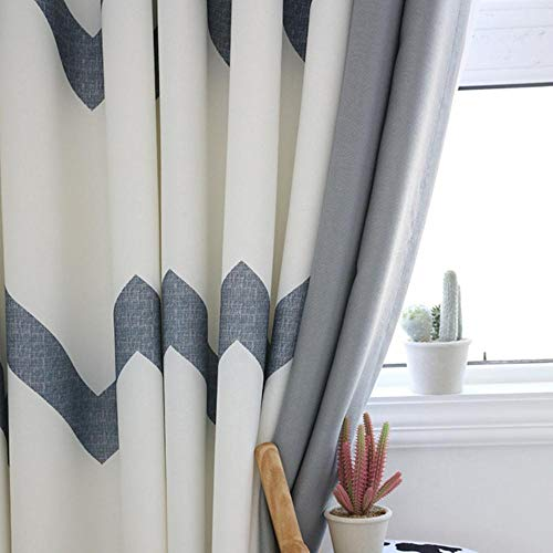 PENVEAT Moderne gestreifte mosaik Fenster Vorhang Schlafzimmer Balkon Vorhang verdunkelungsvorhänge für Wohnzimmer Cortina cortinas, Blackout, b150cmxh270cm 1 stück, ziehen plissee Band