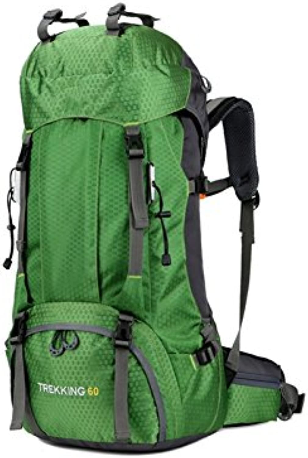 Backpacks Large Capacity Mountaineering Bag 60L Waterproof Outdoor Travel Backpack with Rain Cover(Green) Vellhater