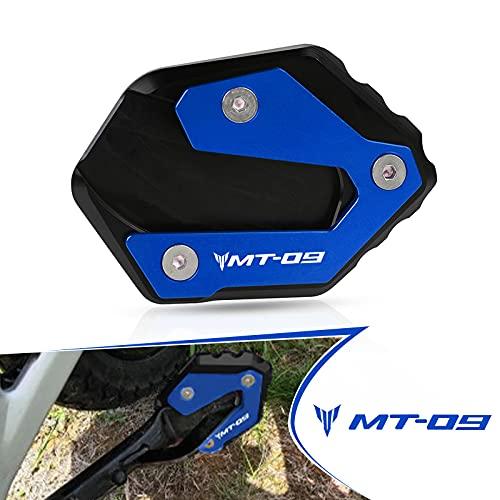 YIEBA MT09 ALLUMINIO CNC Moto Ingrandisci Cavalletto laterale Per Yamaha MT-09 Tracer 2014-2021 Yamaha MT-09 2013-2021 (Blu)