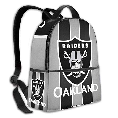 zhengdong Large-Capacity Schoolbag Backpack for Girls Boys (Oakland Football Fans R-aiders)