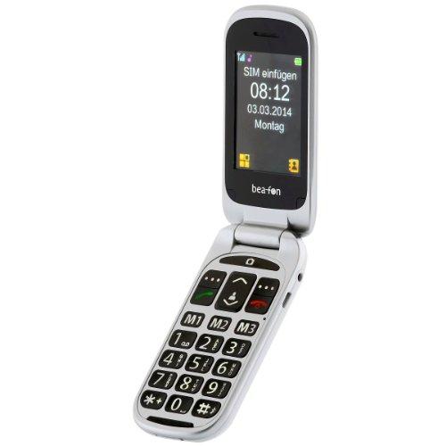 Beafon SL650_EU01W SL650 Großtastenhandy (6,1 cm (2,4 Zoll) OLED-Display, SOS-Notruftaste, UKW-Rado, 2 Megapixel Kamera, v3.0 Bluetooth, Micro-USB 2.0) weiß-Lack