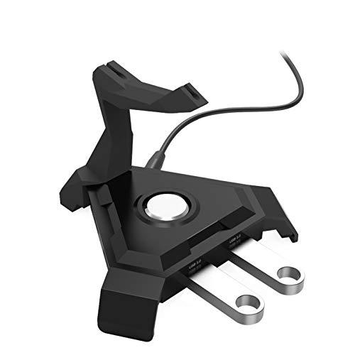 TWW Mouse Bungee, Controlador De Cable De Mouse para Juegos, con Concentrador USB De 4 Puertos Y Retroiluminado, Organizador De Administración De Cables De Mouse