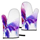 hgdfhfgd Abstract Butterfly with Blue Purple Oven Mitts Heat Resistant Microwave...