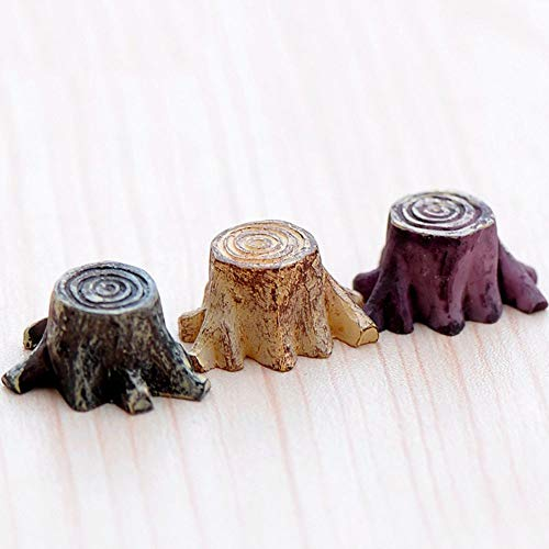DAWEIF - Juego de 5 mini raíces artificiales para jardín de hadas, miniaturas, gnomos de musgo, terrarios de resina, para decoración del hogar, accesorios