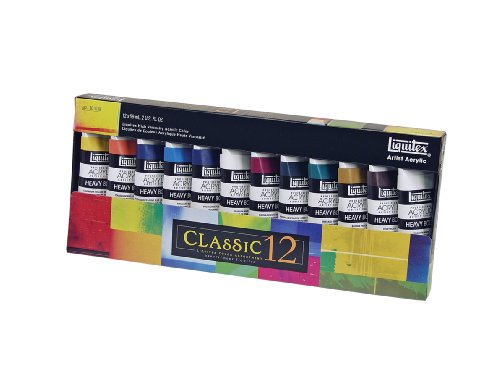 Liquitex Professional Heavy Body Acrylic Paint Set, Classic 12 (101038)